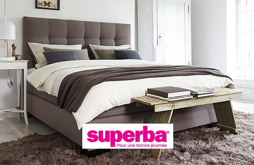 boxspring superba la r f rence en literie matelas num ro 1. Black Bedroom Furniture Sets. Home Design Ideas