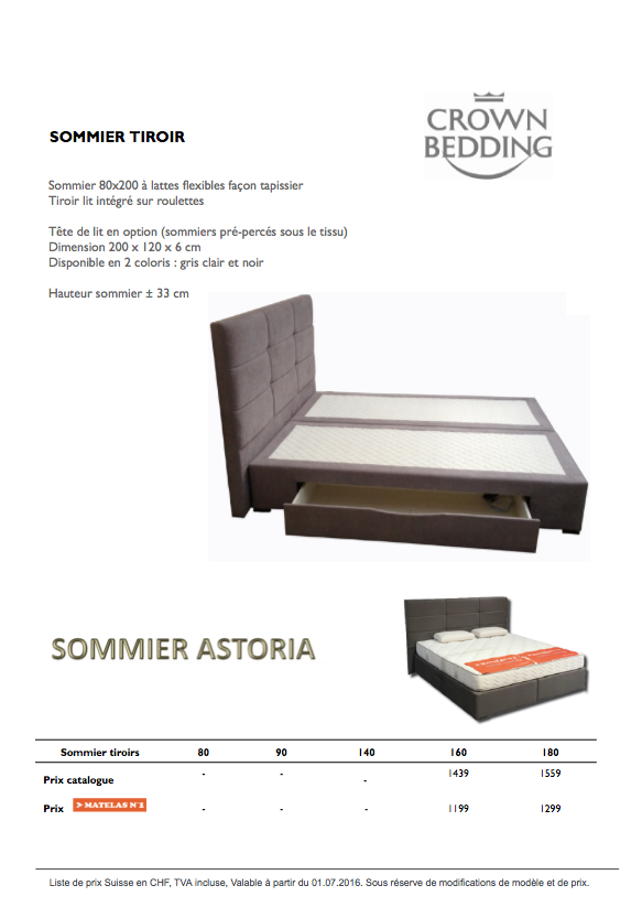 sommier tiroirs matelas n1. Black Bedroom Furniture Sets. Home Design Ideas
