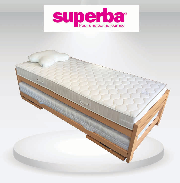 lit gigogne superba matelas n1. Black Bedroom Furniture Sets. Home Design Ideas
