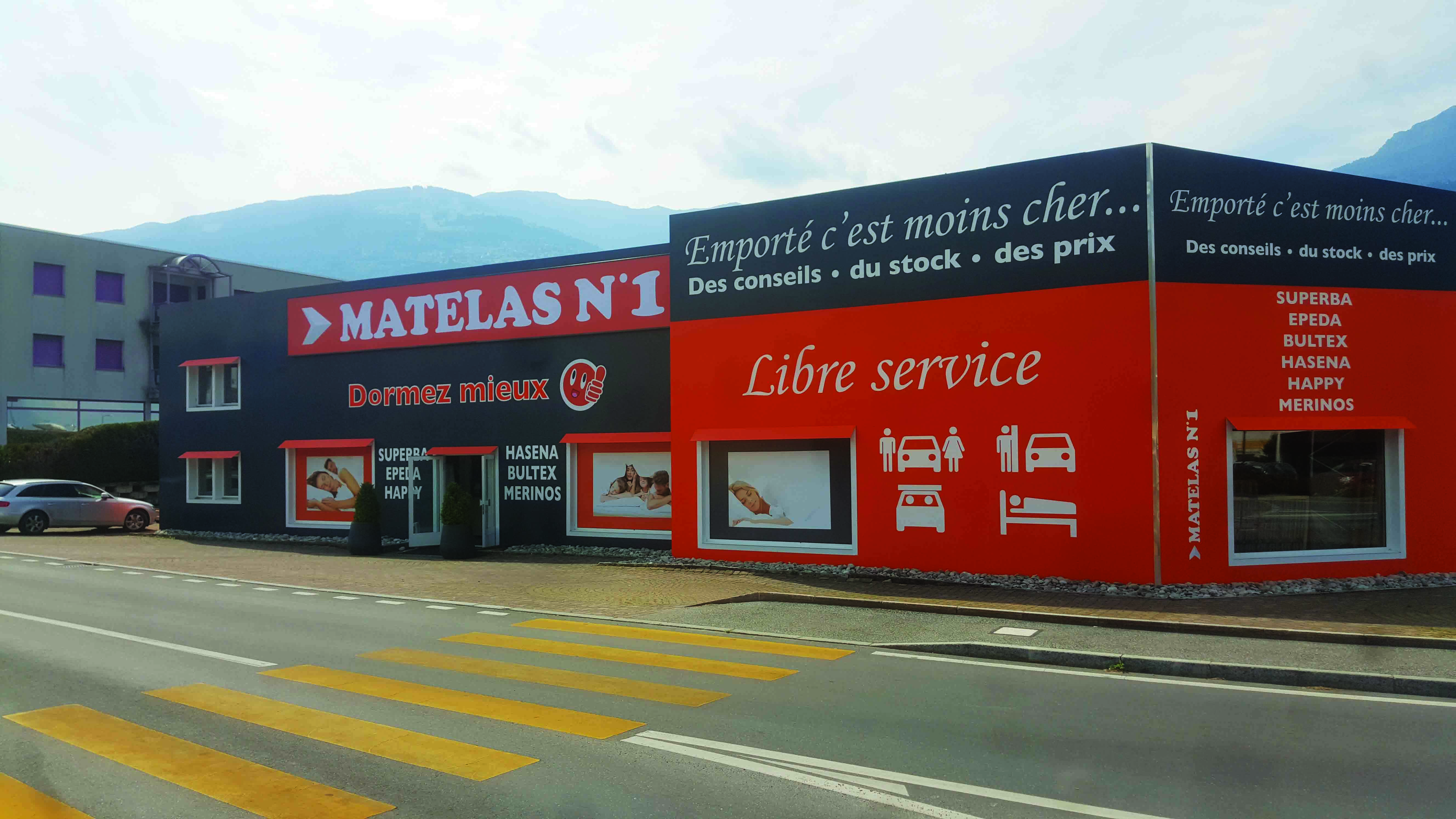 Matelas Numero 1 à Conthey, à côté de Sion en Valais