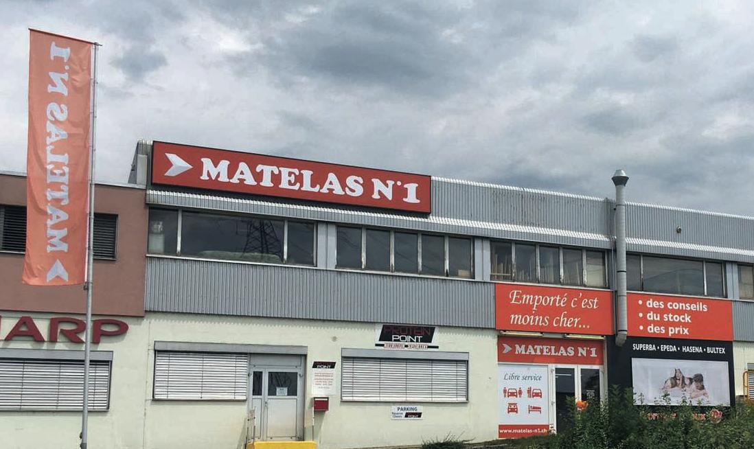 Les points forts de Matelas N1à Crissier à côté de Lausanne